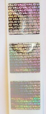 100 AUTHENTIC  Circle Hologram Tamper Evident Labels Stickers Seals 20mm