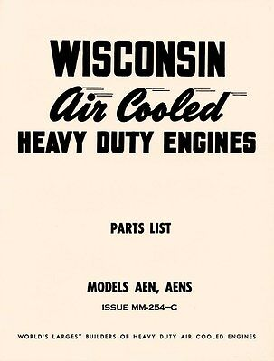 WISCONSIN AEN and AENS Air Cooled Engine Parts Manual