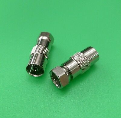 (10 PCS) PAL/IEC Female to F Male Adapter