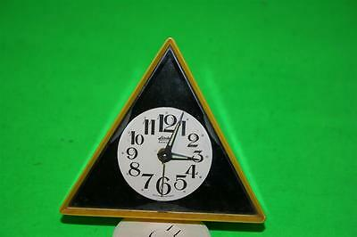 Vintage Linden Black Forest Geometric Alarm Clock Made in West Germany Triangle