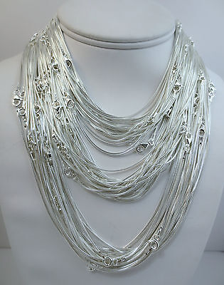 1mm Sterling Silver Snake Chain. Pure .925 Italian 14,16,18,20,22,24,30 inch