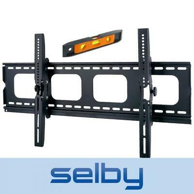 "50-75"" 100kg Heavy Duty Tilt LED LCD Plasma Bracket TV Wall Mount Bracket Black"