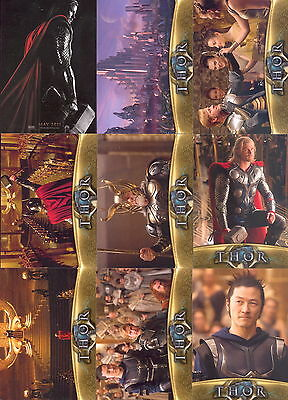 Thor The Movie 2011 Upper Deck Complete Base Card Set Of 81 Marvel Comics