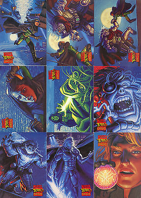 X-MEN OASIS 1997 FLEER SKYBOX COMPLETE BASE CARD SET OF 90 MARVEL COMICS