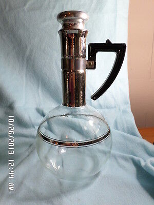 VINTAGE HAND BLOWN INLAND COFFEE CARAFE FROM THE 1940'S