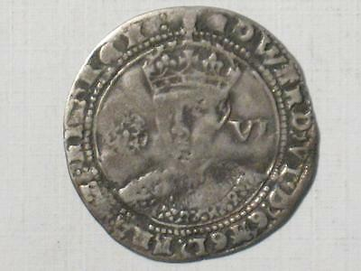1547-53 Great Britain Sixpence - King Edward Vi 6 Pence Six - Silver World Coin