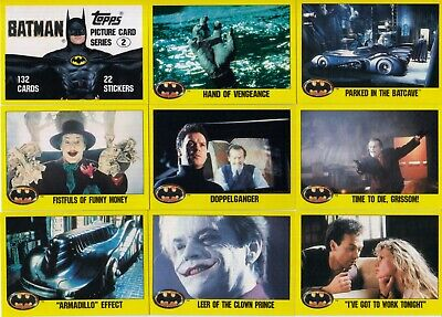 BATMAN THE MOVIE SERIES 2 1989 TOPPS COMPLETE BASE CARD AND STICKER SET