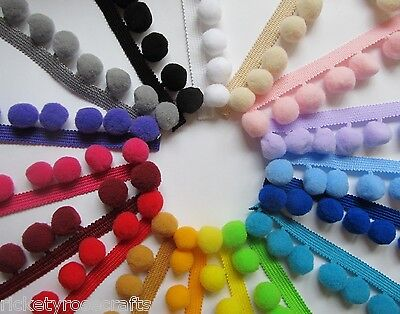 JUMBO POM POM TRIM PER METRE OR 10 M REEL 20mm Bobbles  High Quality Fringe