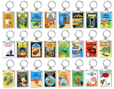 Tintin Book Cover Keyring Choose Your Model Llavero