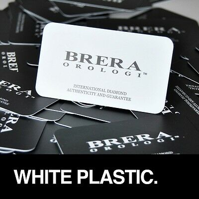 1000 Full Color Printed 2 Sides WHITE PLASTIC Business Cards - CANADA ONLY