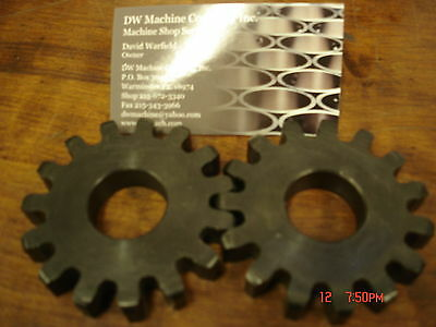 S615-14-1/2 Pair Spur Gears / 6 Pitch 15 Teeth