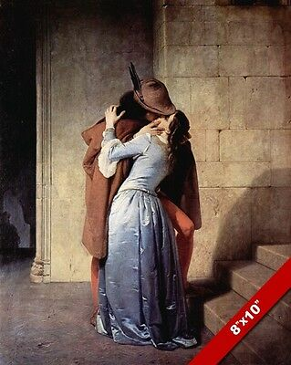 "The Kiss ""robin Hood"" Passionate Hayez Fine Art Real Canvas Giclee 8X10 Print"