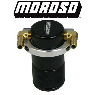 Moroso 85497 Universal Crankcase Ventilation PCV Air Oil Separator/Catch Can Kit