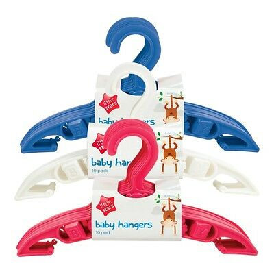 5 Pack Baby Toddler Nursery Wardrobe Clothes Hanger Coat Hangers White Pink Blue