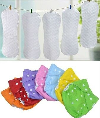 New Adjustable Reusable Baby Infant Cloth Diaper Nappy Covers Inserts