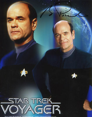 Star Trek:robert Picardo Autograph Photo From Creation Ent