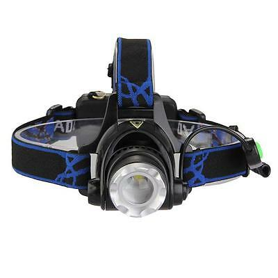 1600LM CREE XM-L T6 LED Linterna Frontal Cabeza Zoomable Luz Blanco Deportivo