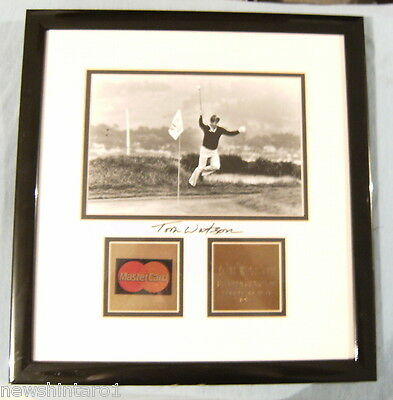 Framed Tom Watson Golf Photo With Signature