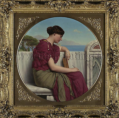 Godward John William The Answer artista quadro riproduzione dipinto olio  a mano