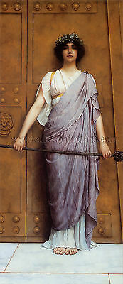 Godward At the Gate of the Temple artista quadro dipinto olio su tela a mano