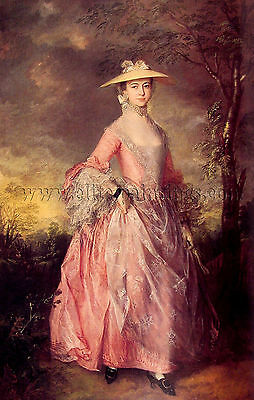 Thomas Gainsborough Mary Countess Howe artista quadro dipinto olio su tela mano