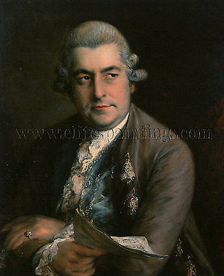 Thomas Gainsborough Johann Christian Bach  artista quadro dipinto olio su tela