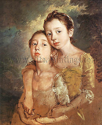 Thomas Gainsborough artistas daughters cat  artista quadro dipinto olio su tela
