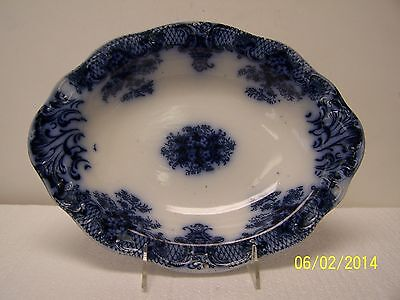 Wood & Sons Flow Blue Oval Serving Bowl
