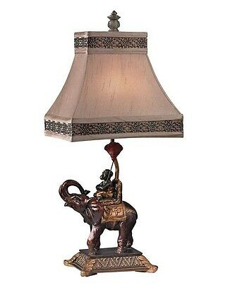 Monkey Riding Elephant Table Lamp Accent Light Jungle Animals