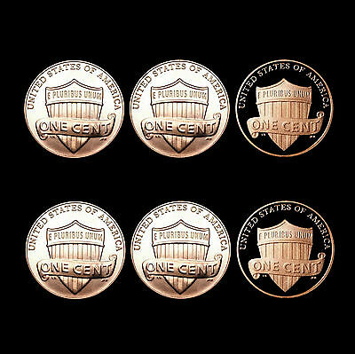 2013 & 2014 P+D+S Lincoln Shield Set ~ Mint Proof & PD  Business Strikes