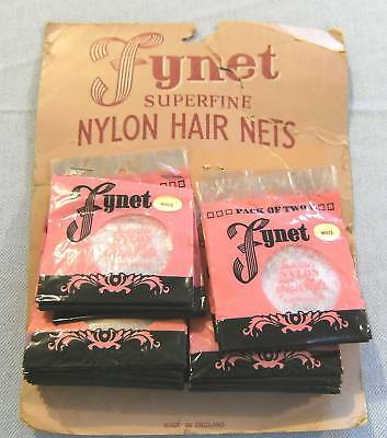 #t29.  Two Shop Display Cards Of Lynet Nylon Hair Nets