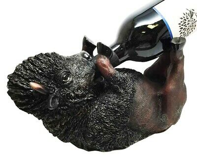 Wild Buffalo Bison Vino Wine Holder Guzzler Decor Collection Statue Figurine