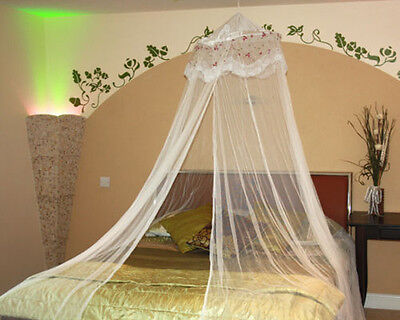 White Mosquito Net Bed Netting Single Double King Midges Insect Fly Canopy UK