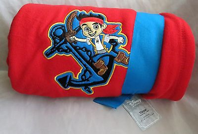 Disney Store Jake And The Never Land Neverland Pirates Fleece Throw Blanket NWT