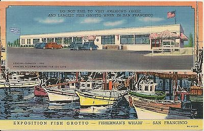 Exposition Fish Grotto Fishermans Wharf San Francisco CA Postcard