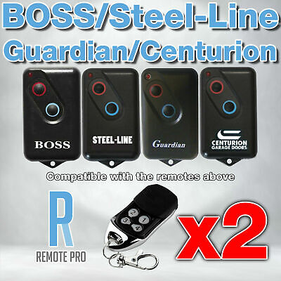 2 x Boss/Guardian/Steel Line/Lynx/Centurion 2211L Garage Compatible Remote BOL