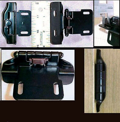 New Spring Loaded Self Close Kitchen Cabinet Overlay Hinges  - 20 Lot - Black