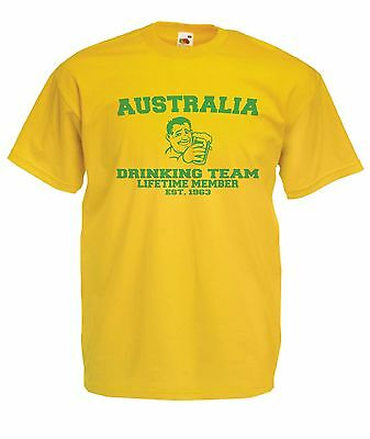AUSTRALIA BEER funny present NEW Mens Womens T SHIRT TOP size 8-16 s m l xl xxl