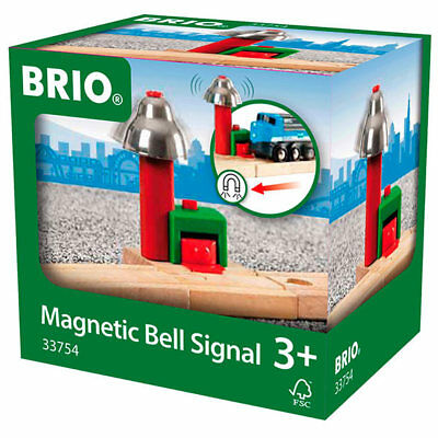 BRIO 33754 Magnetic Bell Signal Track for Wooden Train Set