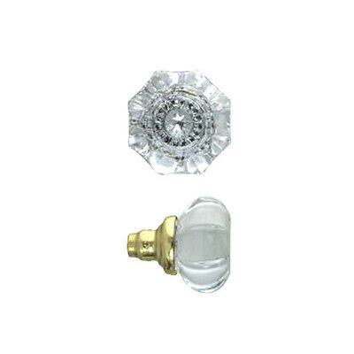 Lead Crystal Glass Door Knob Recreated Classic Antique Victorian Style (L-45K)
