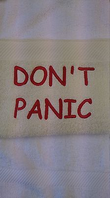 Hitch Hikers Guide To The Galaxy Inspired Embroidered Towels-5 different designs