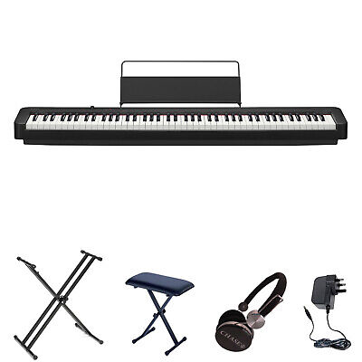 Casio CDP-130 Digital Piano X-Pack Portable Stage Bundle 88 Fully Weighted Keys