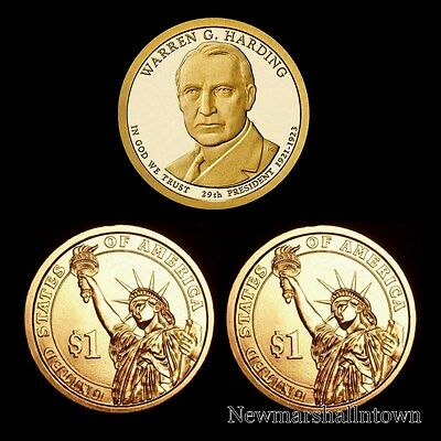 Harding $1 Coins Presidential W 2 2014 P D From Mint Wrapped Rolls G