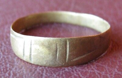 Authentic Ancient Artifact   Bronze RING Size: 6 US 16.5mm 11546