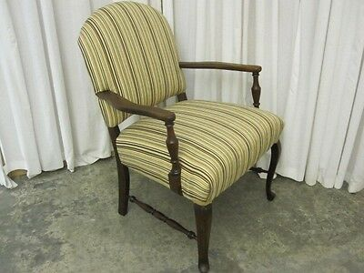 Antique Arm Chair Freshly Upholstered Seat Mahogany Arms and Legs Extra Nice Con