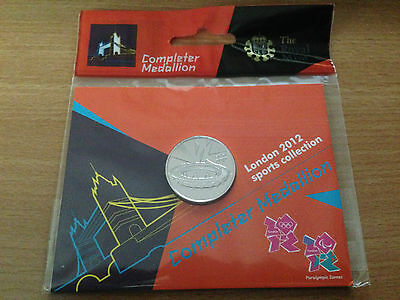 BRAND NEW SEALED - 50p COMPLETER MEDALLION LONDON OLYMPICS 2012