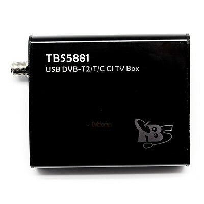 TBS5881 DVB-T2 T C USB Digital TV Tuner Box With CI Slot HDTV on PC Support PLP