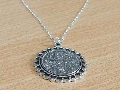 1966 50th Birthday / Anniversary sixpence coin Fine pendant plus 20inch SS chain