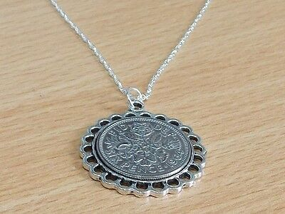 1967 50th Birthday / Anniversary sixpence coin Fine pendant plus 20inch SS chain