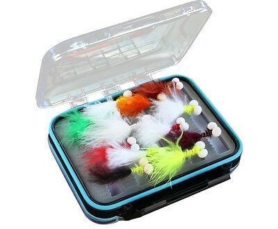 Flextec Assorted Fly Fishing Booby Nymph Flies in box Fly Selection x 20